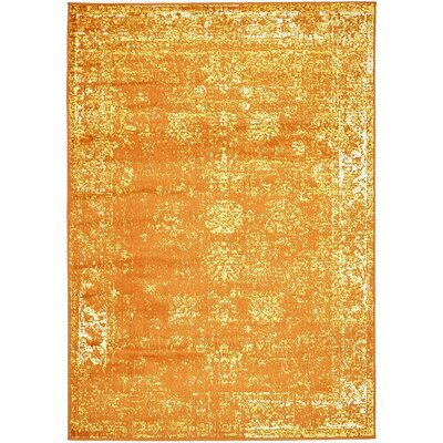 Brandt Orange Area Rug Rug Size: Rectangle 9 x 12