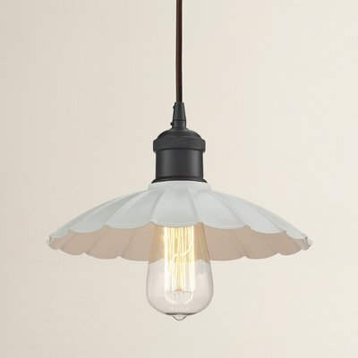Salamone 1-Light Pendant Finish: Oil Rubbed Bronze, Shade Color: Chrome