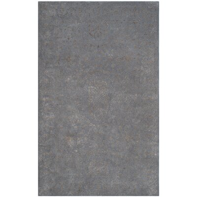 Samaniego Hand-Tufted Steel/Blue Area Rug Rug Size: Rectangle 5 x 8