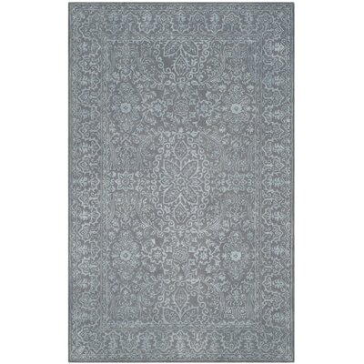 Samaniego Hand-Tufted Opal/Gray Area Rug Rug Size: Runner 23 x 8