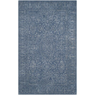 Samaniego Hand-Tufted Gray/Blue Area Rug Rug Size: 4 x 6