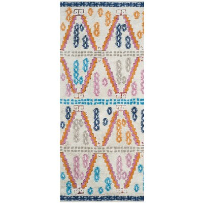 Lockheart Hand-Tufted Orange/Blue Area Rug Rug Size: Rectangle 4 x 6