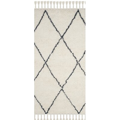 Lockheart Hand-Tufted Beige/Black Area Rug Rug Size: Runner 23 x 8
