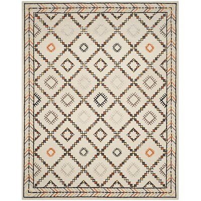 Marco Hand-Tufted Ivory Area Rug Rug Size: Rectangle 4 x 6