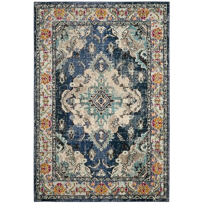 Newburyport Navy/Light Blue Area Rug Rug Size: Rectangle 3 x 5