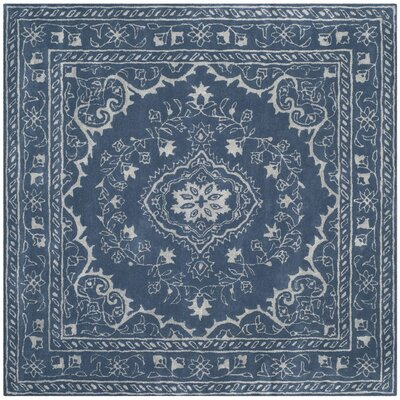 Samaniego Hand-Tufted Blue Area Rug Rug Size: Square 6