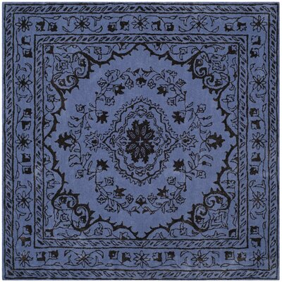Samaniego Hand-Tufted Purple Area Rug Rug Size: Square 6
