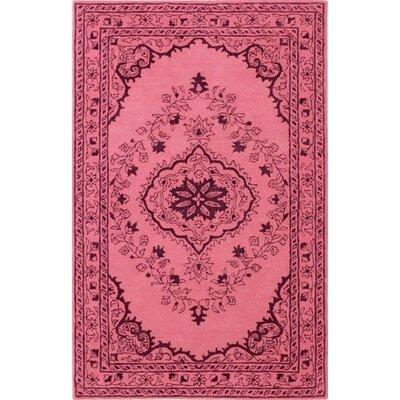 Samaniego Hand-Tufted Pink Area Rug Rug Size: Round 6