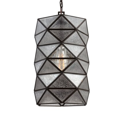 Rosalina 1-Light Mini Pendant with Mercury Glass Size: 14.62 H x 8 W