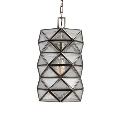 Rosalina 1-Light Mini Pendant with Seeded Water Glass Size: 14.62 H x 8 W