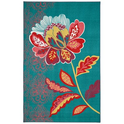 Ruggieri Amaranda Teal Area Rug Rug Size: Rectangle 76 x 10
