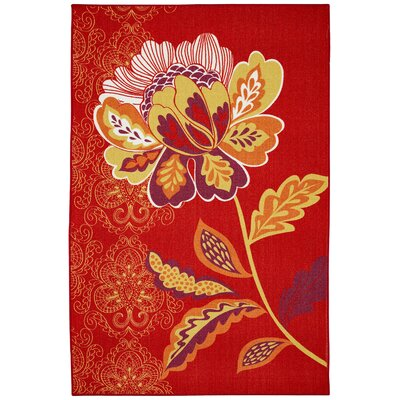 Ruggieri Amaranda Red Area Rug Rug Size: Rectangle 5 x 8