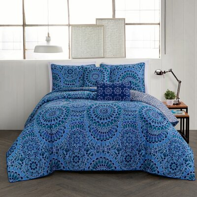Feroz 5 Piece Comforter Set Size: King