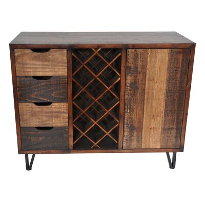 Ouanane 14 Bottle Floor Wine Cabinet