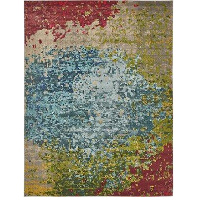 Sanchali Blue/Red Area Rug