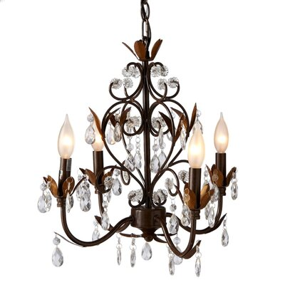 Samir 4 Light Crystal Chandelier