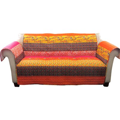 Somerton Sofa Furniture Protector Color: Orange Multi