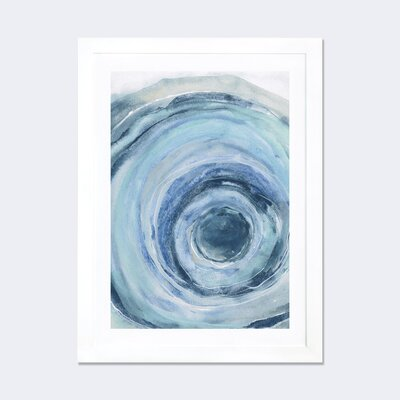 Bungalow Rose Watercolor Geode IX Framed Painting Print