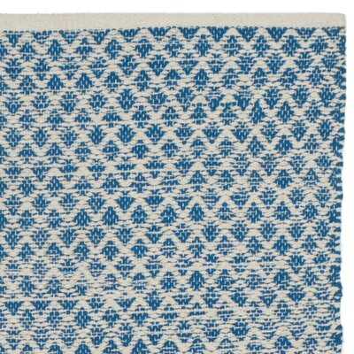Saleem Hand-Woven Blue/Ivory Area Rug Rug Size: 5 x 8