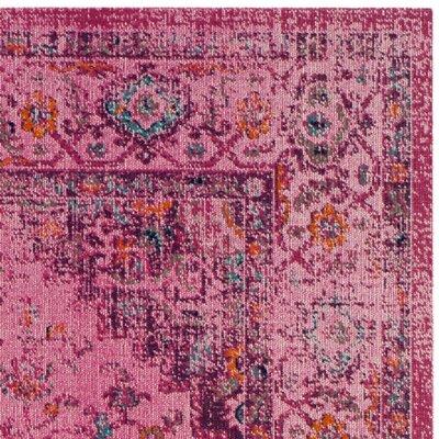 Saira Fuchsia Area Rug Rug Size: 67 x 9