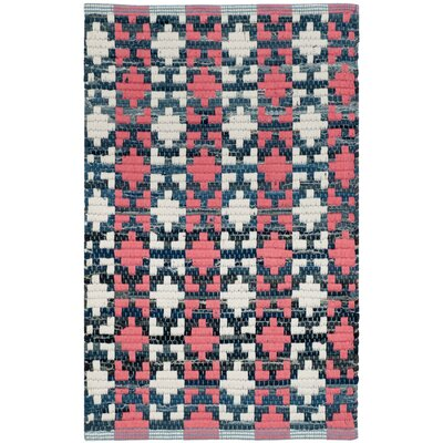 Saleem Hand-Woven Coral Area Rug Rug Size: Rectangle 26 x 4