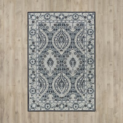 Jasmyn Hand-Tufted Light Gray/Teal Area Rug Rug Size: 4 x 6