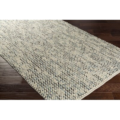 Nicolle Hand-Woven Beige/Gray Wool Area Rug Rug Size: Rectangle 8 x 10