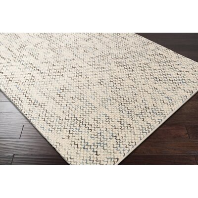 Nicolle Hand-Woven Beige Area Rug Rug Size: Rectangle 8 x 10