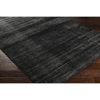 Anvi Black/Gray Area Rug Rug Size: Rectangle 710 x 102