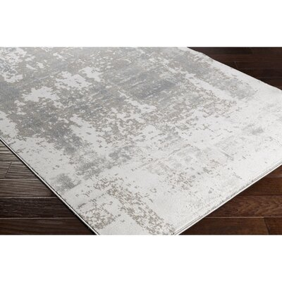 Anvi Neutral/Gray Area Rug Rug Size: Rectangle 53 x 73