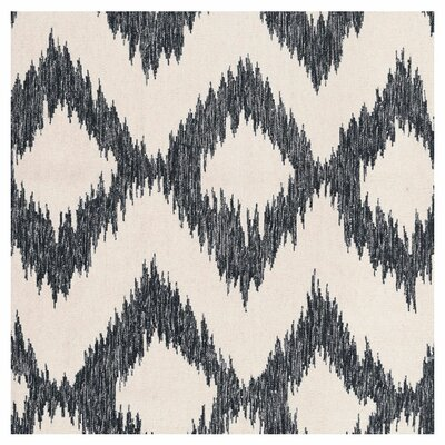 Faith Hand Woven Wool Gray/Beige Area Rug Rug Size: Rectangle 36 x 56
