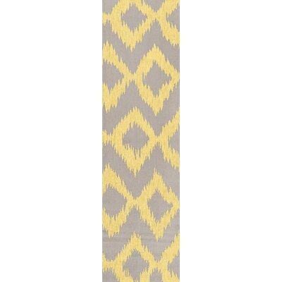 Faith Lemon & Brindle Geometric Area Rug Rug Size: 36 x 56