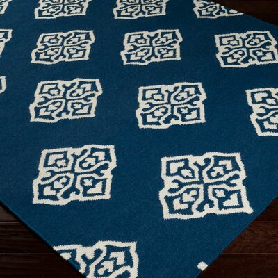 Faith Mediterranean Blue Geometric Area Rug Rug Size: 2 x 3