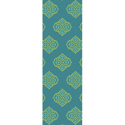 Faith Turquoise Geometric Area Rug Rug Size: Rectangle 36 x 56
