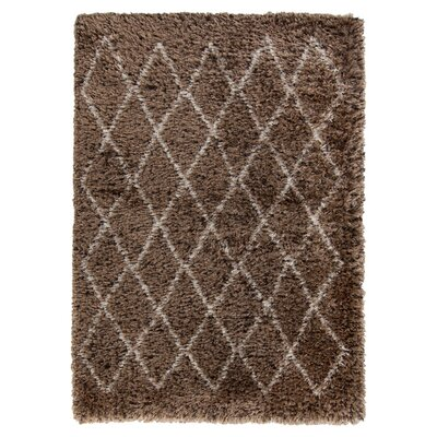 Sina Doe Skin/Espresso Rug Rug Size: Rectangle 9 x 12
