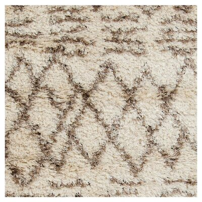 Sina Hand Woven Beige Area Rug Rug Size: Rectangle 9 x 12