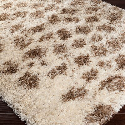Sina Hand Woven Ivory/Brown Area Rug Rug Size: Rectangle 8 x 10