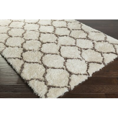 Leona Light Gray Area Rug Rug Size: Rectangle 8 x 10
