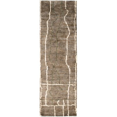 Elvera Olive / Taupe Area Rug Rug Size: Rectangle 2 x 3