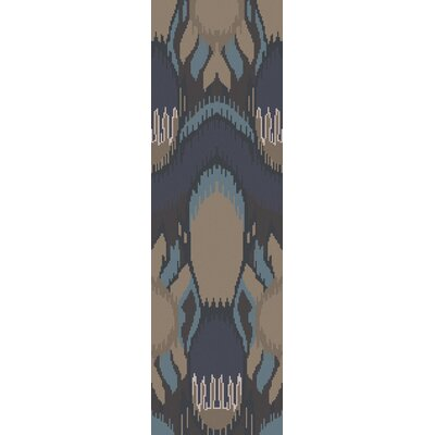Elvera Cobalt / Taupe Area Rug Rug Size: Rectangle 5 x 8