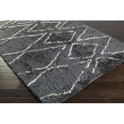 Leona Charcoal Area Rug Rug Size: Rectangle 8 x 10