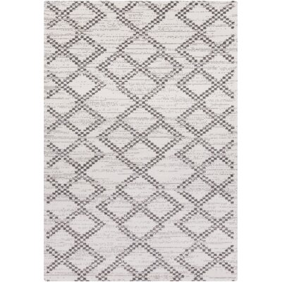 Hayden Ivory/Charcoal Area Rug Rug Size: Rectangle 8 x 10