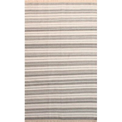 Madelyn Light Gray/Ivory Area Rug Rug Size: Rectangle 5 x 76