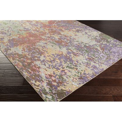 Bovill Lavender/Mocha Area Rug Rug Size: Rectangle 6 x 9