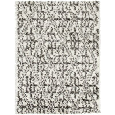 Hauser Charcoal/Ivory Area Rug Rug Size: Rectangle 2 x 37