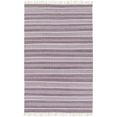 Nampa Hand Woven Cotton Lavender Area Rug Rug Size: Rectangle 5 x 76