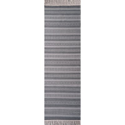 Nampa Hand Woven Cotton Charcoal Area Rug Rug Size: Rectangle 8 x 10
