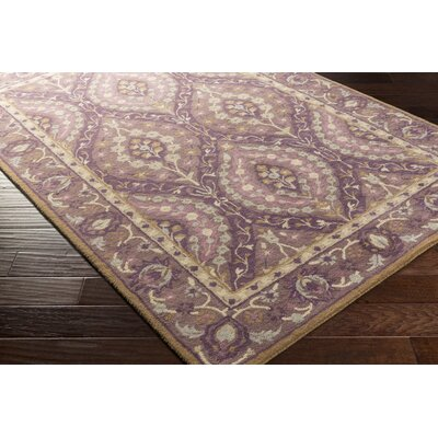Dover Hand-Tufted Dark Purple Area Rug Rug size: Rectangle 4 x 6