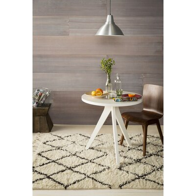 Brondby Hand-Woven White/Camel Area Rug Rug Size: 9 x 13