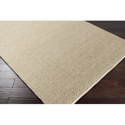Waverly Hand-Woven Green/Red Area Rug Rug Size: Rectangle 5 x 76